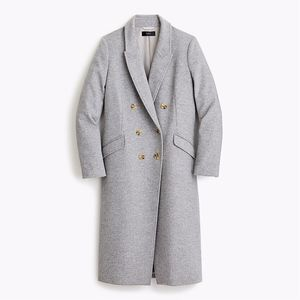 J. Crew Double Breasted Topcoat Wool Cashmere NWT